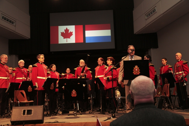 Canadian Anthem at Liberation of Holland Concert - Goderich